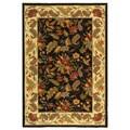 Safavieh Handmade Paradise Black Wool Rug (6' x 9')