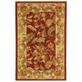 Handmade Paradise Red Wool Runner (2'6 x 4')