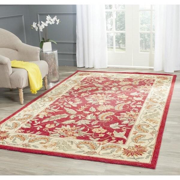 Safavieh Handmade Paradise Red Wool Rug (5'3 x 8'3)