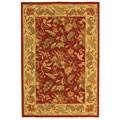Safavieh Handmade Paradise Red Wool Rug (6' x 9')