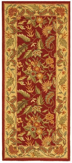 Safavieh Handmade Paradise Red Wool Runner (2'6 x 6')