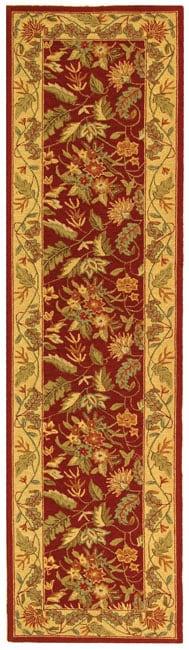 Safavieh Handmade Paradise Red Wool Runner (2'6 x 10')