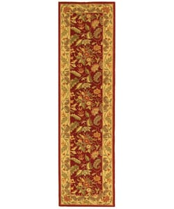 Handmade Paradise Red Wool Runner (2'6 x 12')