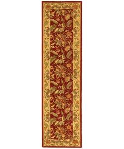Safavieh Handmade Paradise Red Wool Runner (2'6 x 12')