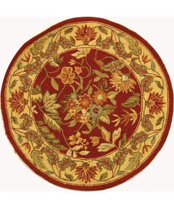 Safavieh Handmade Paradise Red Wool Rug (4' Round)