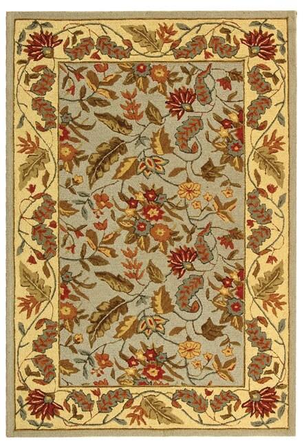 Safavieh Handmade Paradise Light Blue Wool Rug (3'9 x 5'9)