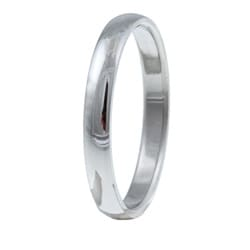 Stainless Steel Slim Comfort Fit Ring