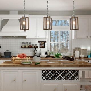 "Modern Farmhouse Mini Hanging Ceiling Pendant Lighting for Kitchen Island - W6.5""x H10.2"""