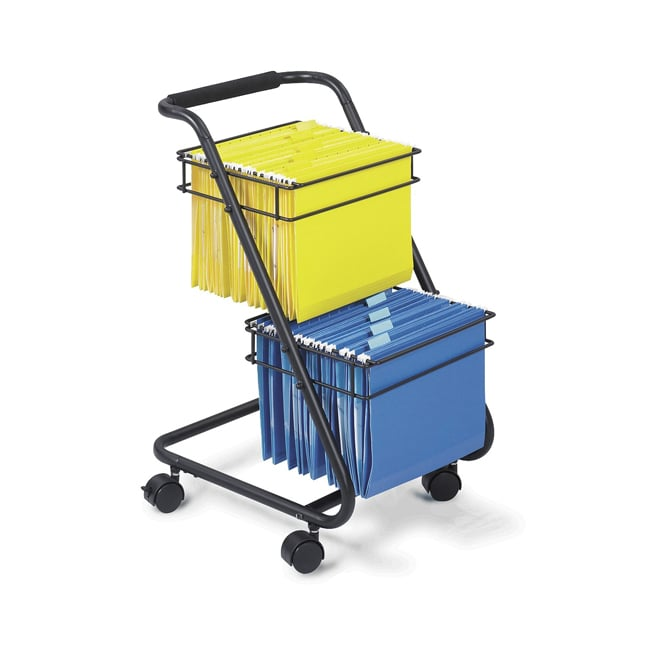 Safco Jazz Black Powder-coated Steel Two-tier Hanging File Cart