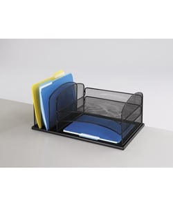 Safco 6-Section Mesh Desk Organizer