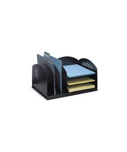 Safco Combination 6-Section Steel Desk Rack