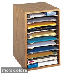 Safco Wood Vertical Desktop Sorter