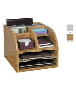 Safco 3-Way Wood Corner Organizer
