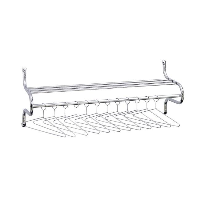 Safco Durable Chrome-plated Steel Shelf Rack with Twelve Hangers