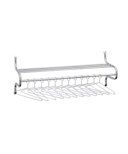 Safco Durable Chrome-plated Steel Shelf Rack with Twelve Hangers