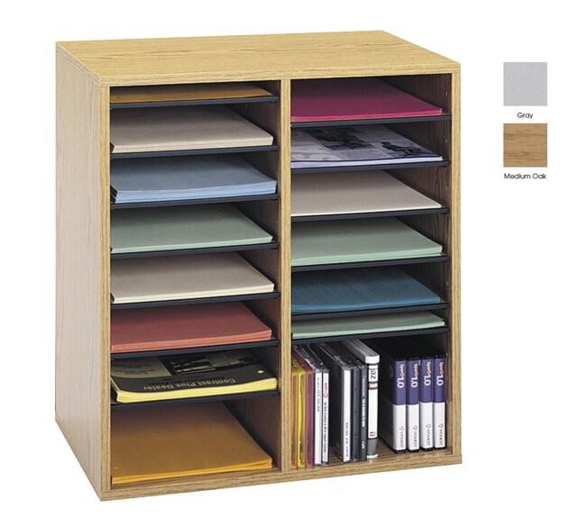 Safco Wood Adjustable Literature Organizer