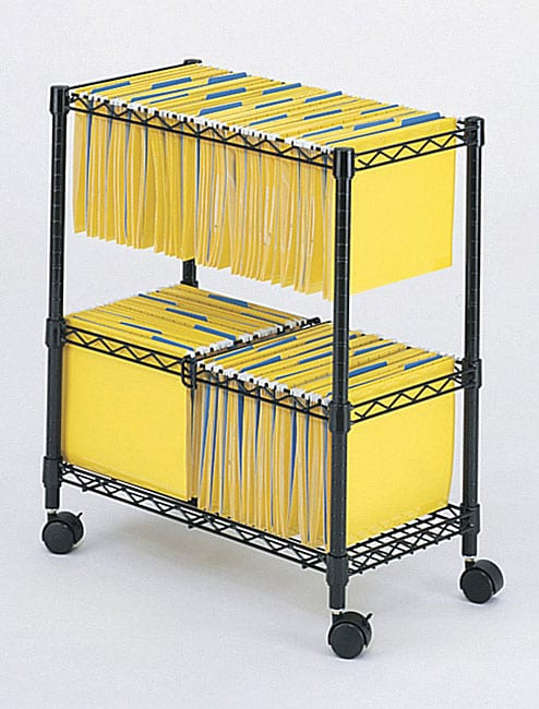 Safco Two Tier Rolling File Cart 11179543 Overstock