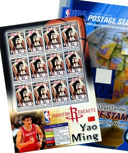 Yao Ming Stamp Sheet and Folio Set