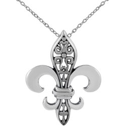 Tressa Sterling Silver Large Fleur de Lis Necklace