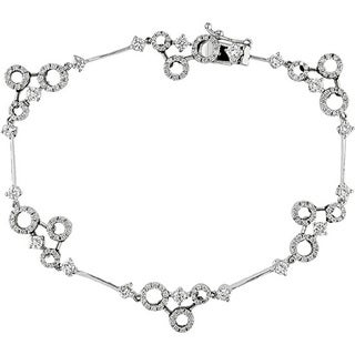 18k White Gold 1 1/2ct TDW Diamond Circle Bracelet (G-H, SI1-3)