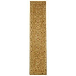 Handmade Ancestry Tan/ Ivory Wool Runner (2'3 x 14')
