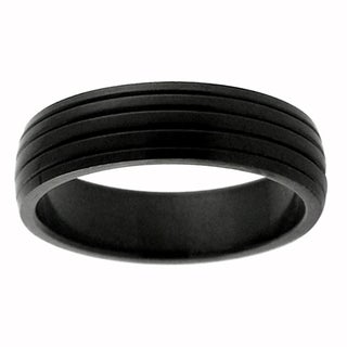 Black Stainless Steel Lined Comfort Fit Band