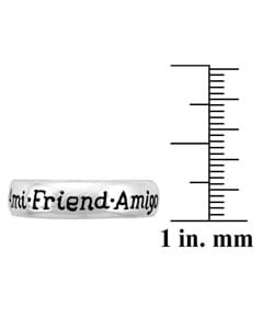 Mondevio Sterling Silver Inspirational 'Friendship' Ring