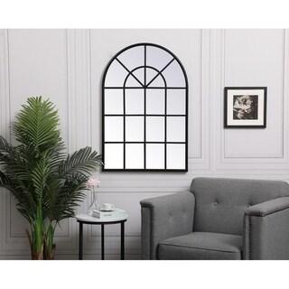 Carson Carrington Ladufallet Arched Metal Windowpane Mirror
