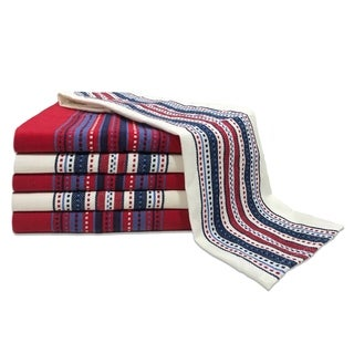 Glamburg 6 Pack 100% Cotton Kitchen Dish Towels 16x26, Tea Towels Cleaning Towels, Absorbent Machine Washable, Hanging Loop
