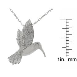 Tressa Sterling Silver Large Humming Bird Necklace