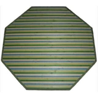 Lime Green Bamboo Rug (5' Octagonal)