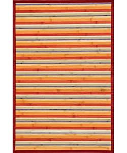 Rust Bamboo Area Rug (5' x 7')