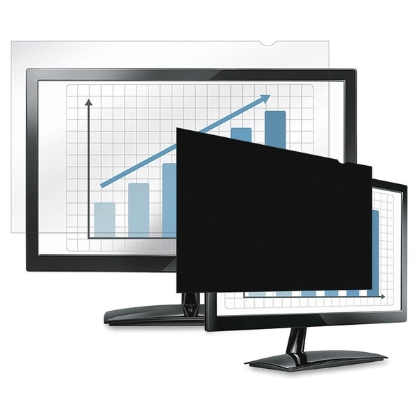 "Fellowes Laptop/Flat Panel Privacy Filter - 15.4"" Wide Black"