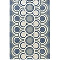 Hand-tufted Mandara Wool Area Rug (5' x 8')