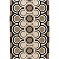 Hand-Tufted Mandara Geometric Patter Wool Rug (5' x 8')