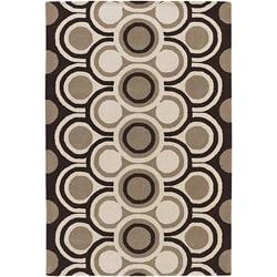 Hand-Tufted Rectangle Contemporary Mandara Wool Rug (8' x 11')