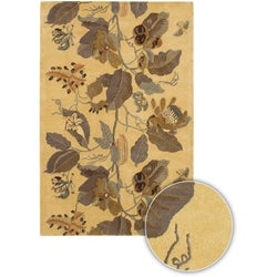 Hand-Tufted Mandara Transitional Floral Wool Rug (5' x 8')