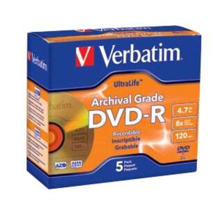 Verbatim DVD-R 4.7GB 16X UltraLife Gold Archival Grade with Branded S