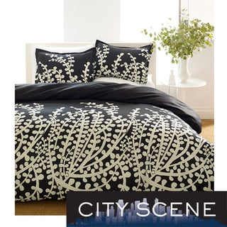 City Scene Branches Black Duvet Set