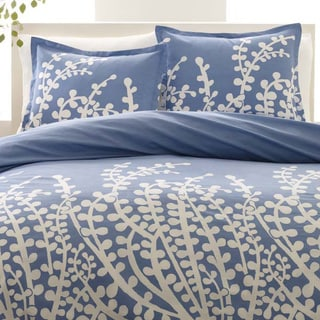 City Scene Branches French Blue 3-piece Duvet Set