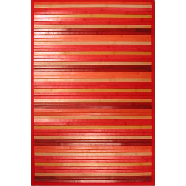 Red Bamboo Area Rug (5' x 7')