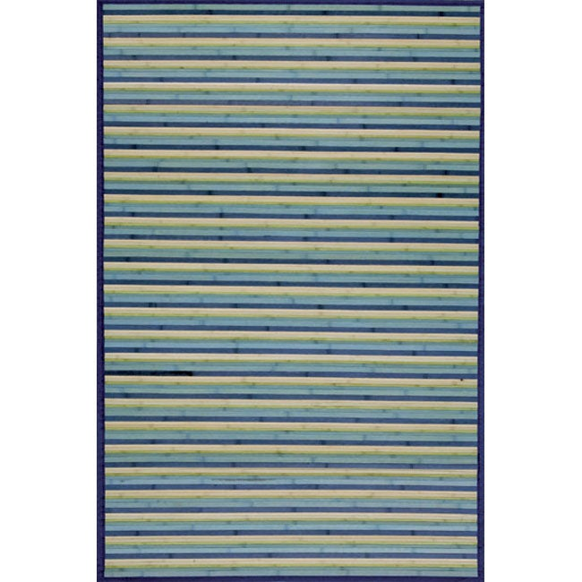 Blue Rayon from Bamboo Area Rug (4' x 6')