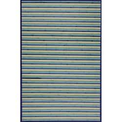 Blue Bamboo Area Rug (5' x 7')