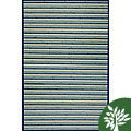 Handmade Blue Bamboo Rug (3 x 3 Octagon)