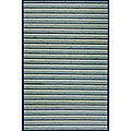 Handmade Blue Bamboo Rug (5' Octagon)