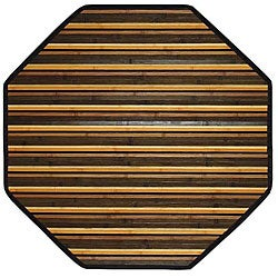 Handmade Beige Bamboo Rug (5' Octagon)