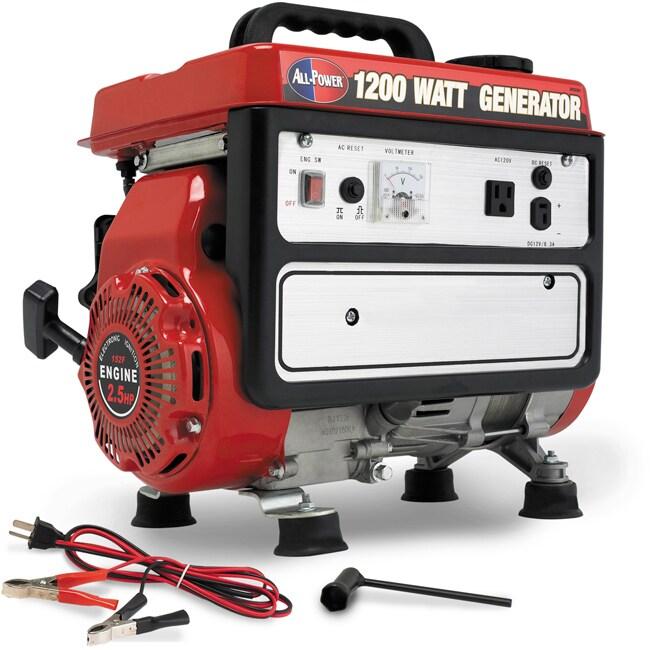 1200-watt 4-stroke Portable Generator