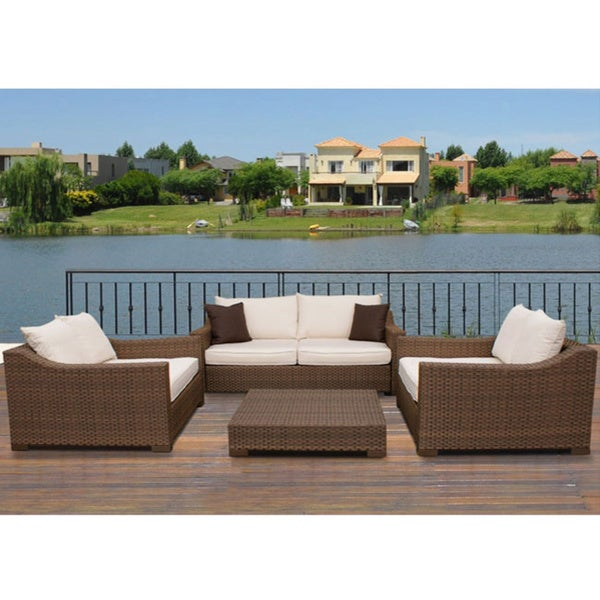 Atlantic Lexington All-weather Aluminum Wicker Patio Set