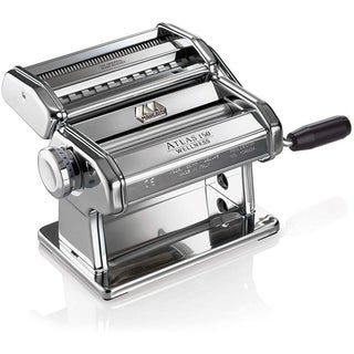 Marcato Atlas Machine,Silver,Includes Pasta Cutter,Hand Crank,Manual