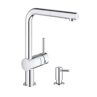 Grohe Minta Pull-Out Kitchen Faucet with Soap Dispenser